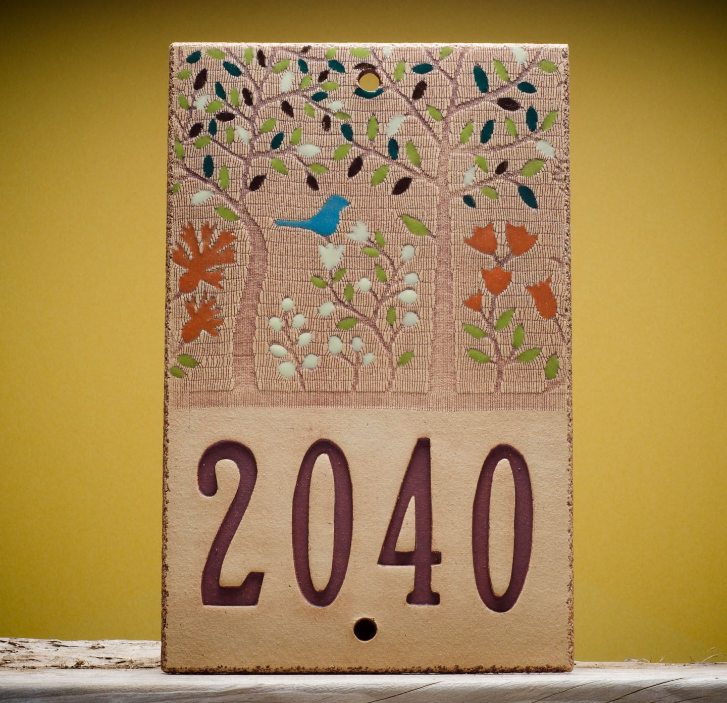 Ceramic House Number Sign For Outdoor Custom By Marionpollmann