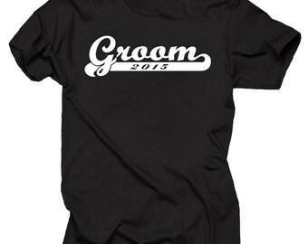 Groom 2015 T-shirt Wedding Gift For Groom Tshirt Wedding T-shirt