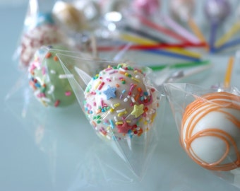 PARTY FUN MEDLEY Assorted Cake Pops Favours | Bombonieres | Rainbow Carnival 16 set. makeforgood
