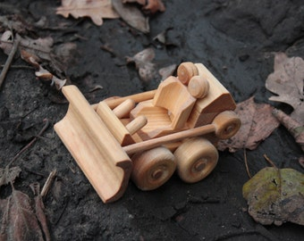 Lovely Wooden Bulldozer Great Gift for Child Eco Toy for Boy for Girl WoodenMotors