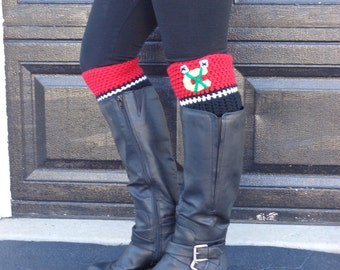 Blackhawks Boot Cuffs! Chicago Blackhawks Hockey Boot Cuffs! Perfect boot toppers to accessorize for your NHL team!