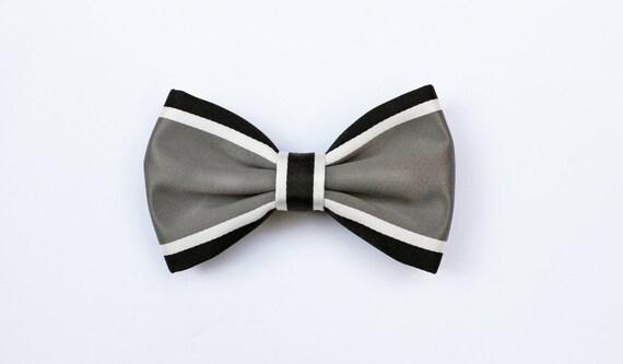 noeud papillon pour les hommes lignes dinterconnexion gris noir blanc et gris