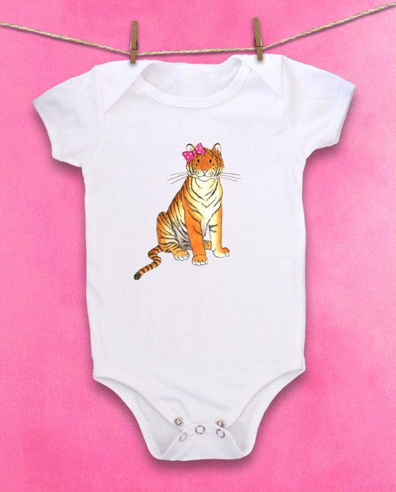 Cute Baby bodysuit Unique Baby clothes Tiger baby shower