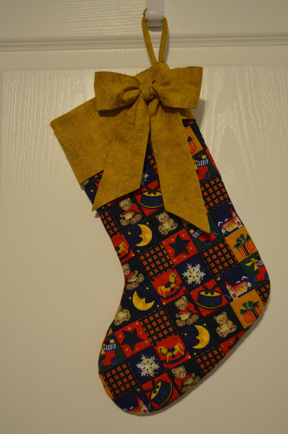 Christmas stocking quilted christmas by nancysneedfulthings