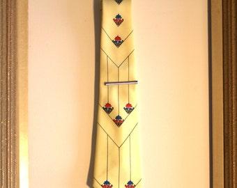 Yellow Dacron 1950's 1960's tie