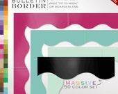 50 Piece Classroom Bulletin Board Trim - 50 Printable Single Color Borders Instant Download - Teacher Tools Homeschool Chores Bulletin Board