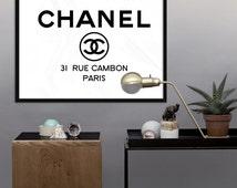 Chanel Logo - PRINTABLE - 31 Rue Cambon Paris - Fashion Coco Chanel Print -  Chanel Poster - Wall Art Print,  Digital File