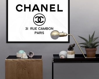 Chanel Logo - PRINTABLE - 31 Rue Cambon Paris - Fashion Coco Chanel Print -  Chanel Poster - Wall Art Print,  Digital File