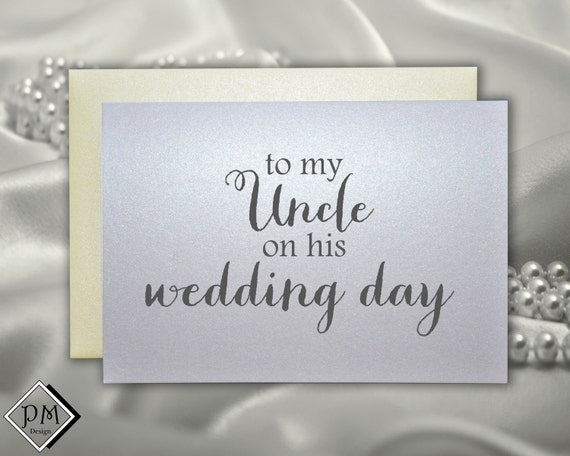 Wedding Gift For Uncle : for uncle, wedding day wedding reception notes card set gift, wedding ...