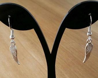 Silver or Gold Angel Wing Earrings