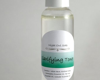 Clarifying Toner, Alcohol Free Witch Hazel Toner 2oz