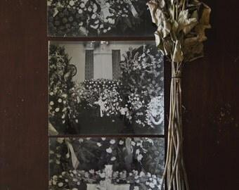 Set of 3 8x10 Original Vintage Funeral Flower Photos