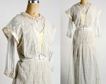 SALE - Edwardian Blouse & Skirt Set