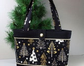 Especially for Lorie ... Christmas Trees & Snowflakes Holiday Tote Bag
