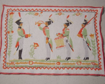 Vintage Tony Sarg Textile Soldiers at Assembly