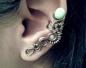 Limited Run Jade Wyrm Ear Cuff