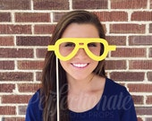 Felt Aviator Prop Glasses | Stiff FELT Aviator Glasses | Photo-Booth Props | Pop Culture Photo-Booth Props | 80s | 70s Photo-Booth