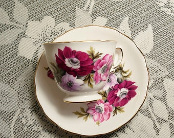 Royal Vale Sweet Anemone Cup and Saucer