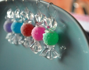 Candy Earrings -- Candy Jewelry, Christmas Earrings, You choose the color!