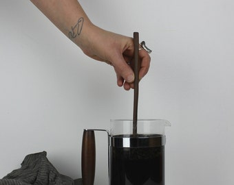 Hand Carved Modern Coffee Stirring Stick