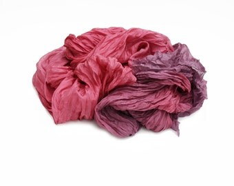 raspberry silk scarf - Tatiana -  pink, mauve silk scarf.
