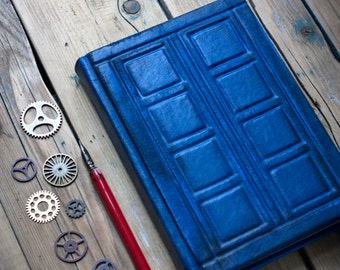 Tardis leather journal Doctor Who leather journal Doctor Who Inspired  River Song's journal Tardis notebook  Diary Tardis travel journal