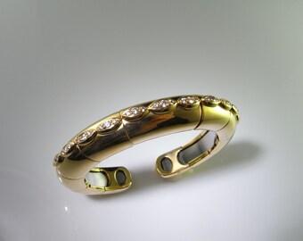 French Jewelry 18K Gold Cuff Bangle Bracelet Cuff Bracelet Luxury Jewelry High End Jewelry Diamond Bracelet Diamond Bangle Designer Bracelet