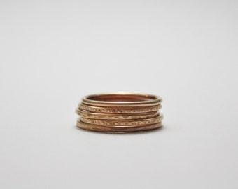 Bronze Stacking Ring, Thin Bronze Ring, Bronze Stack Ring, Bronze Anniversary, Stackable Ring, Skinny Stack Ring, Hammered Stack Ring