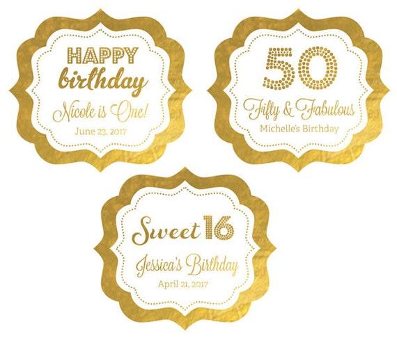Personalized Birthday Stickers 50th Birthday Stickers