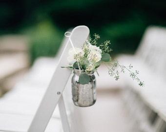 Aisle decorations etsy handmade mercury glass mason jars wedding mason jars flower vase wedding wedding aisle junglespirit Gallery