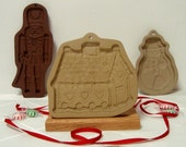 Gingerbread House Cookie Mold Brown Bag Christmas Candy Cottage 1985 Vintage