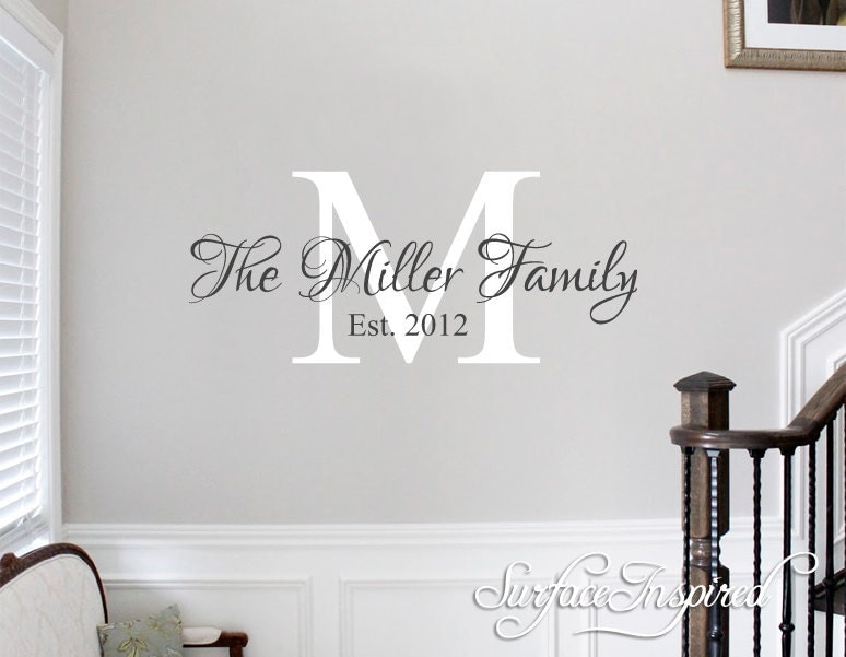 Wall Decals Quote Personalized Family Name Wall Decal Name - Wall decals about family