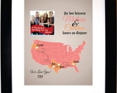 Long distance mothers day gift, mom birthday gift, the love between mothers and children knows no distance, long distance mom, personalized