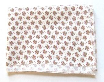 Paisley Feedsack Cotton Print Opened Full Size 1940s