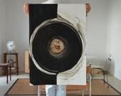Large size-Original Abstract Art Drawing-Black. brown,grey, white,modern,structure,minimal,ink dark, art ink, movement,geometric, wall decor