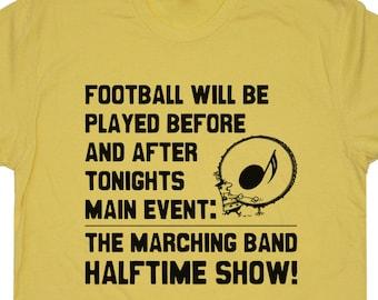 Marching Band T Shirt Funny Marching Band Camp Shirts Band Geek Funny Band Saying Music Note Shirts Trumpet Tuba Flute Bass Drum Shirts