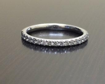 Platinum Diamond Engagement Band - Diamond Platinum Wedding Band - Platinum Band - Platinum Ring - Diamond Ring - Platinum Pave Band