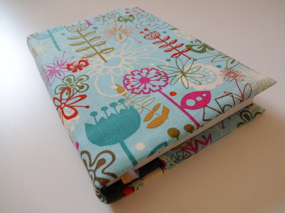 Fabric Notebook Cover : Notebook cover journal fabric a