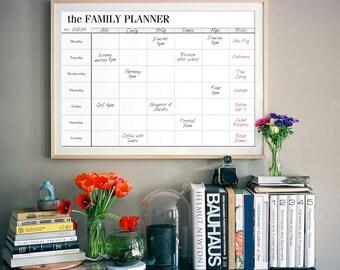 family organizer weekly schedule wall calendar blank calendar ...