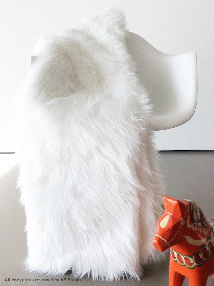 White Fur 60x84 Throw Blanket Soft Luxurious Fur By