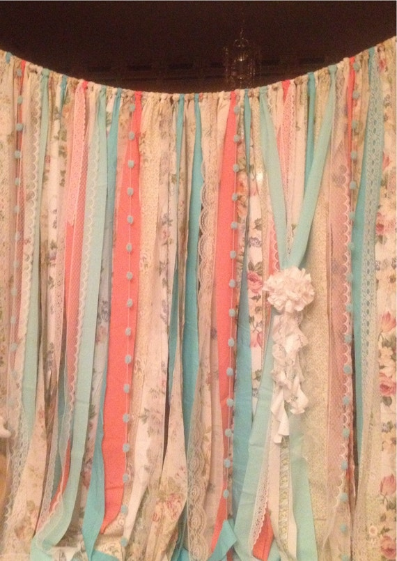 Copper Pipe Shower Curtain Rod Coral and Tan Curtains