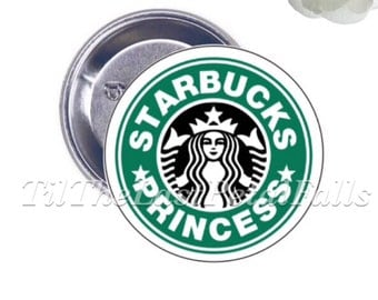 Starbucks Princess - Your Choice of 2-1/4 inch Button Product Accessory