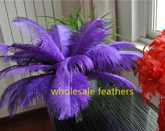 100 pcs purple ostrich feather plumes for wedding centerpiece wedding decor