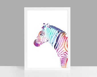 "fine-art print ""zebra-colored"""