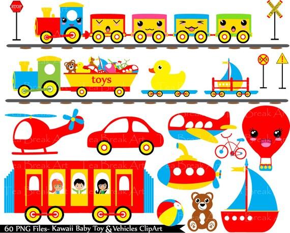 Baby spielzeug fahrzeuge clipart digital clip art grafiken