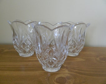 Tulip Shaped Glass Candle Holders