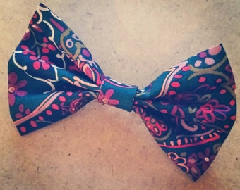 Floral Bow Tie - Hunter (Bowtie, Tie, Unisex, Bow, Accessories)