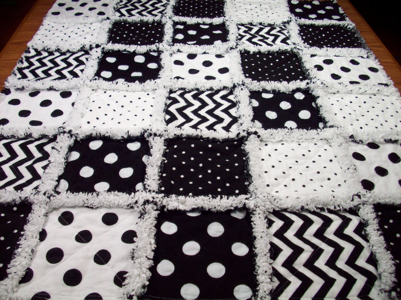 Baby Rag Quilts Chevron Baby Quilt Rag Quilt Black White