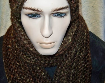 Chunky Knit Slouchy Pom Hat and Ribbed Scarf Hat and Scarf Set Sequoia Wool Ease Thick and Quick Yarn Handmade