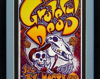 The Grateful Dead Framed & Mated Concert Poster 20 x15